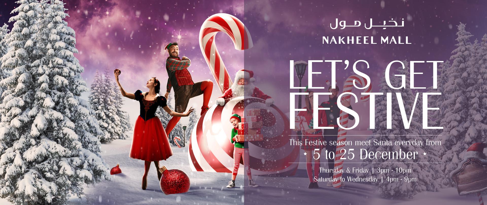 Step into a winter wonderland this festive season at Nakheel Mall